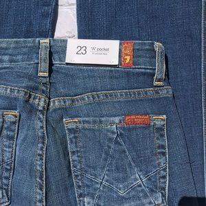 7 For All Mankind A Pocket Flare Jeans Women's